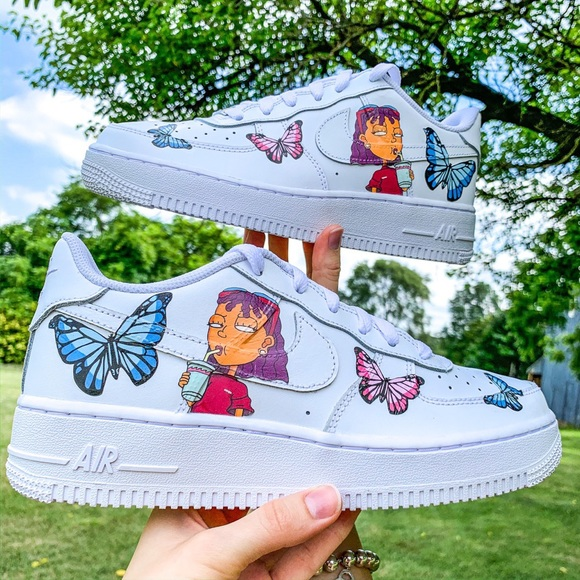 Nike Shoes Air Force 1 Custom Reggie Cartoon Sneakers Poshmark